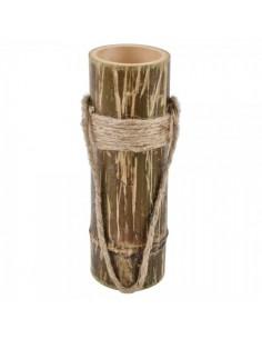Jarrón macetero de bambú colgante con decoración de cuerda para escaparates en verano de tiendas o comercios