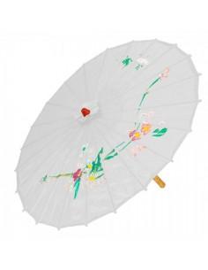 Paraguas de papel de seda motivos asiáticos para escaparates en verano de tiendas o comercios