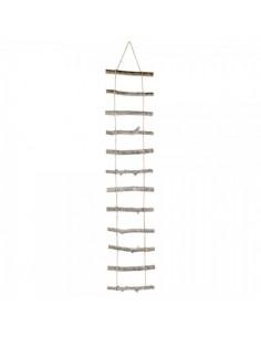 Escalera colgante de 14 peldaños de madera para escaparates en verano de tiendas o comercios