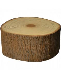 Imitación de tronco de árbol para escaparates veraniegos con helados en tiendas