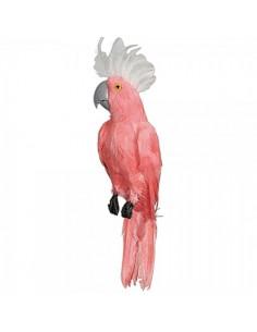 Cacatúa tropical sentada para la decorar espacios y escaparates de verano con mamíferos y aves