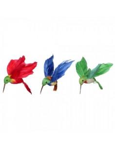 Pájaro colibrí o picaflores volando para la decorar espacios y escaparates de verano con mamíferos y aves