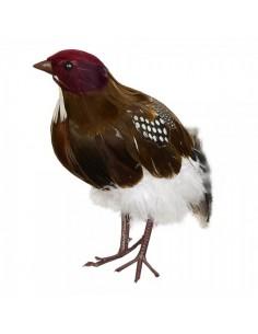 Pájaro la perdiz de pie para la decorar espacios y escaparates de verano con mamíferos y aves