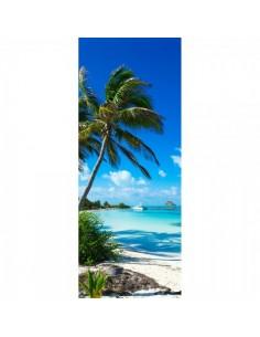 Banner-poster playa caribeña Para la decoración de escaparates de tiendas