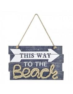 Cartel señalética to the beach para escaparates en verano de tiendas o comercios