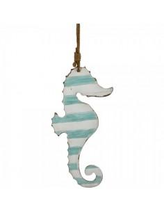 Figura de caballito de mar XL azul 35x74cm