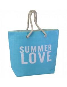 Bolsa de playa summer love para escaparates en verano de tiendas o comercios
