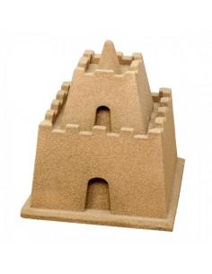 Castillo de arena para escaparates en verano de tiendas o comercios