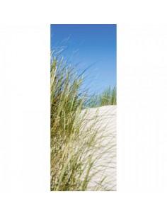 Banner-poster arbusto en la playa Para la decoración de escaparates de tiendas