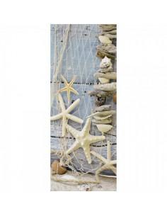 Banner-poster red de pesca con animales marinos Para la decoración de escaparates de tiendas