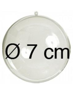 Esfera transparente como expositor 2 mitades para escaparates en verano de tiendas o comercios