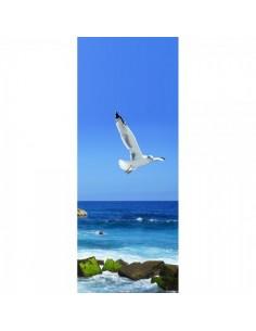 Banner-poster gaviota volando Para la decoración de escaparates de tiendas