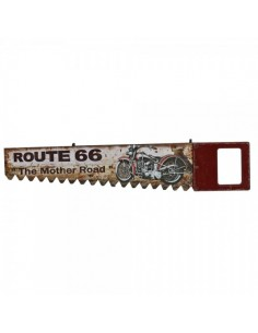 Letrero indicador en forma de sierra diseño ruta 66 para escaparates en verano de tiendas o comercios