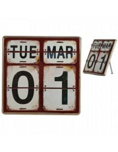 Calendario perpetuo para apoyar diseño vintage para escaparates en verano de tiendas o comercios