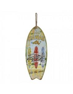 Tabla de surf hawaiana para escaparates en verano de tiendas o comercios