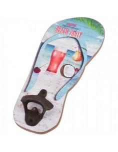 Abridor de botellas diseño chancla de playa flipflop beach para escaparates en verano de tiendas o comercios