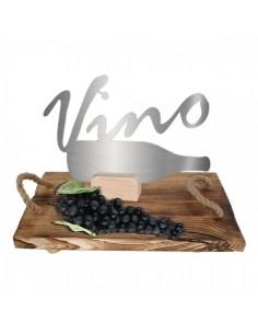 Set decorativo de bandeja con racimo negro para la decoración de la vendimia en licorerías catas bodegas de vino