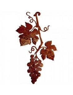 Rama de parra de vid de uva efecto oxidado para la decoración de la vendimia en licorerías catas bodegas de vino