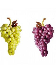 Impresión perfilada de uva verde-burdeos 2 caras para la decoración de la vendimia en licorerías catas bodegas de vino