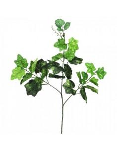 Rama de hoja de parra con 3 ramas para la decoración de la vendimia en licorerías catas bodegas de vino