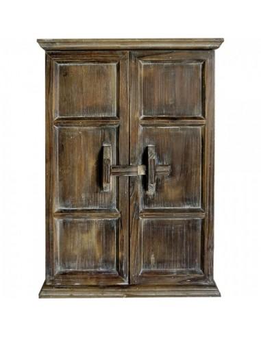 Ventana de madera vintage con puertas que se abren para la decoración de espacios y escaparates e interior de tiendas