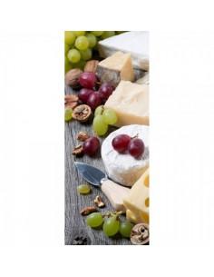 Banner-poster quesos y uvas de decoración Para la decoración de escaparates de tiendas