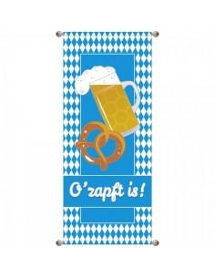 Banner-poster oktoberfest o`zapft is ! Para la decoración de escaparates de tiendas