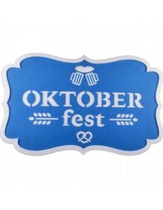 Cartel fiesta oktoberfest hecho de algodón para la decoración de fiestas populares y escaparates