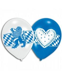 Globos con emblema de la fiesta de bavaria oktoberfest para la decoración de fiestas populares y escaparates
