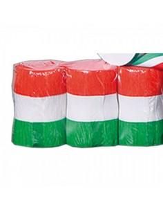 Banda alargada crepe con colores de italia para escaparates y decorar espacios de países y viajes
