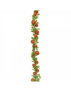 Guirlanda de imitaciones de naranjas con hojas para escaparates y decorar espacios de países y viajes