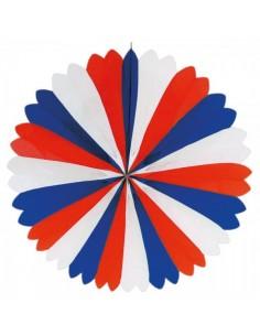 Abanicos de papel festivos con los colores de francia para escaparates y decorar espacios de países y viajes