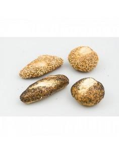 Imitación surtido de panecillos de semillas para panaderías pastelerías y escaparates de tiendas