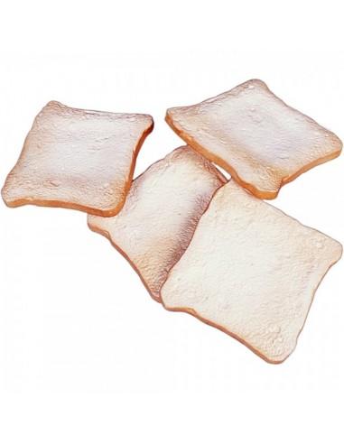 Imitación rebanadas de pan de molde para panaderías pastelerías y escaparates de tiendas