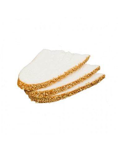 Imitación rebanadas de pan de semillas para panaderías pastelerías y escaparates de tiendas