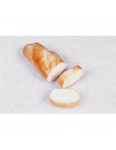 Imitación barra de pan + 2 rebanadas cortadas para panaderías pastelerías y escaparates de tiendas
