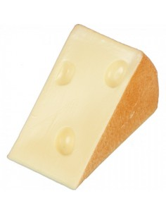 Imitación porción de queso emmental pequeña para queserías y charcuterías y escaparates de tiendas