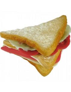 Imitación sándwich doble mitad triangulo para franquicias de comida rápida fast food y escaparates de tiendas