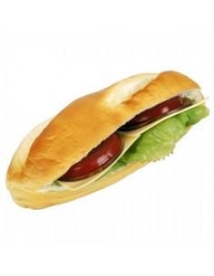 Imitación bocadillo vegetal panecillo abierto para franquicias de comida rápida fast food y escaparates de tiendas