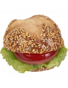 Imitación bocadillo vegetal redondo abierto para franquicias de comida rápida fast food y escaparates de tiendas