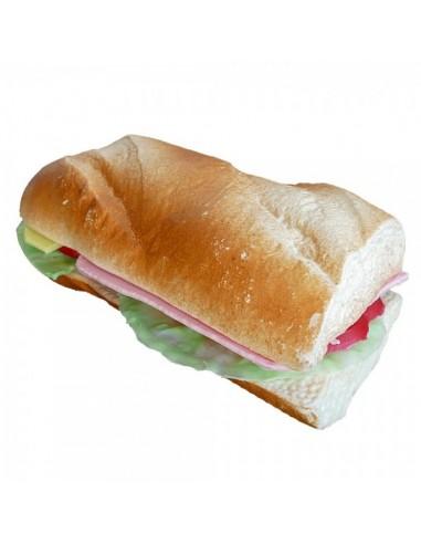 Imitación bocadillo vegetal pan baguette para franquicias de comida rápida fast food y escaparates de tiendas