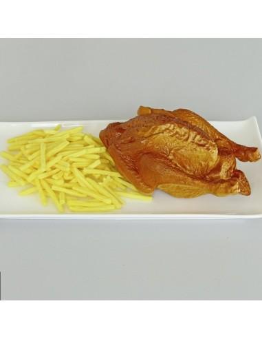 Imitación pollo asado para franquicias de comida rápida fast food y escaparates de tiendas