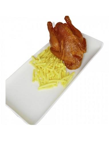 Imitación ración patatas fritas para franquicias de comida rápida fast food y escaparates de tiendas