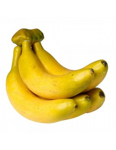 Imitación racimo de plátanos para pescaderías y la decoración de escaparates de tiendas o comercios