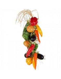 Imitación guirnalda de vegetales para fruterías y la decoración de escaparates de tiendas o comercios