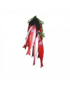Imitación guirnalda de salmonetes para pescaderías y la decoración de escaparates de tiendas o comercios