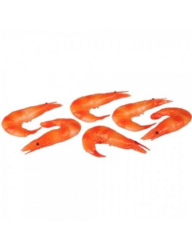 Imitación gambas camarones para pescaderías y la decoración de escaparates de tiendas o comercios