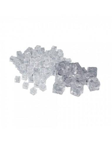 Imitación cubitos de hielo transparentes para la decoración de espacios y escaparates de tiendas