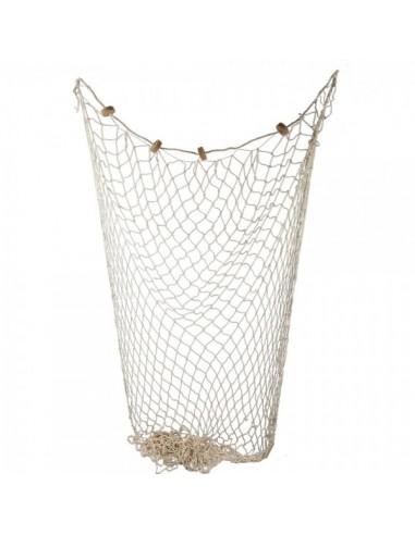 Imitación red de pesca marina con corchos flotantes para pescaderías y la decoración de escaparates de tiendas o comercios