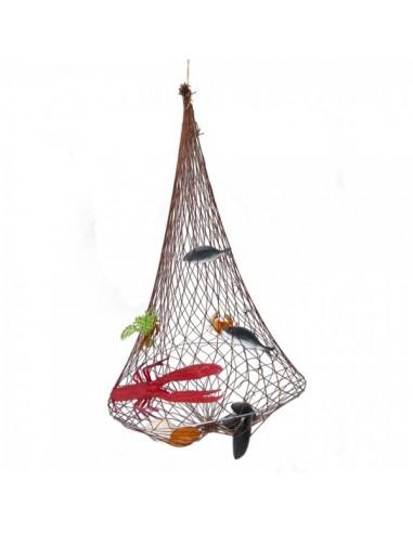 Imitación red trampa para peces y mariscos para pescaderías y la decoración de escaparates de tiendas o comercios